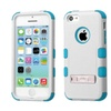 Insten Hard Dual Layer Silicone Case W Stand For Iphone 5c White Teal
