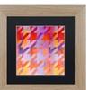 Color Bakery 'Houndstooth VIII' Matted Birch Framed Art