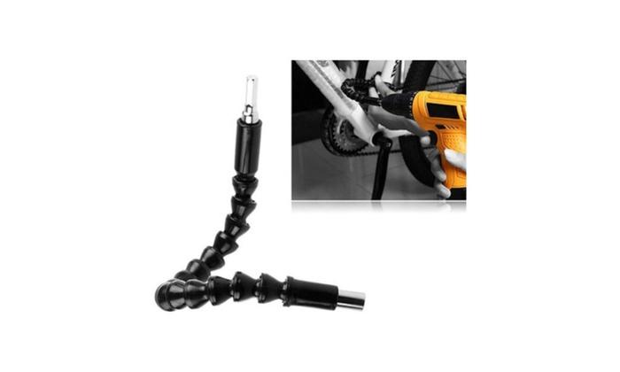 Plastic + Metal Flexible Shaft Extension Screwdriver Drill Bit Holder