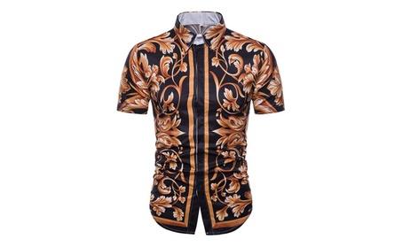 DY 3D Creative Print Men'S Lapel Short-Sleeved Men's Shirt fb9789b4-8570-4d69-900c-f56b71855c5e