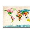 Michael Tompsett Watercolor World Map Canvas Print