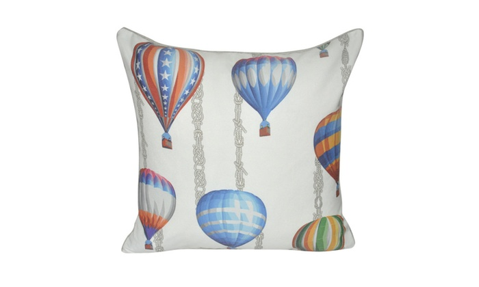 Loom And Mill 40X40 Blue Ballons In Flight Decorative Pillow Groupon Unique Airplane Decorative Pillow