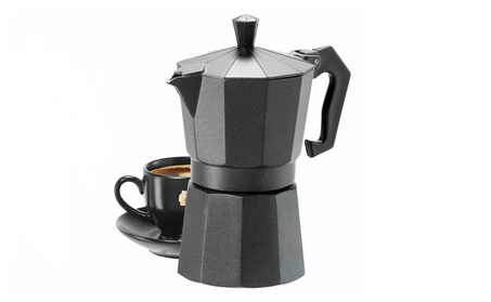 3 Cup Black Coffeee Maker Espresso Maker photo