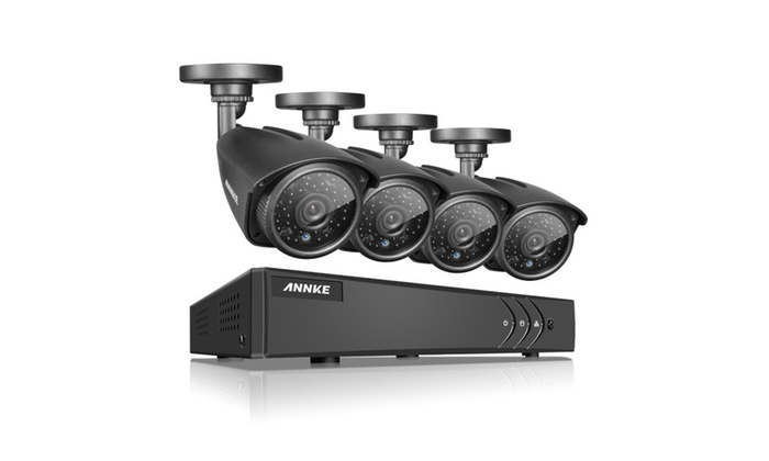 ANNKE 4-Channel Full HD Home Security System with 4 Cameras Dome 960P