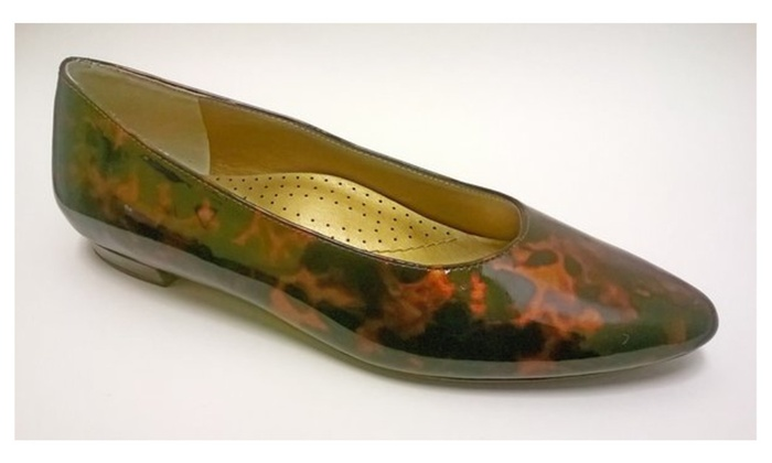 New Chico's Ladies Pattern Leather Leopard Print Shoes Size 7M