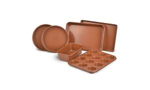 Nonstick Copper Bakeware Set (6-Piece)