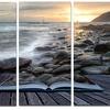 Open Book to the Evening Sea - Contemporary  Aluminium Art