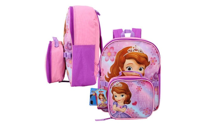 Sofia the First Mini Backpack w/Lunch Bag - 12.8H