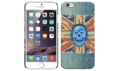 Insten Skull Jeans Hard Rubber Cover Case for Apple iPhone 6 6s Blue 7cee489b-4253-499b-91c6-fe58eb98adc1