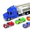 Flaming Car Trailer Friction Toy Truck 1:24 (Colors May Vary)