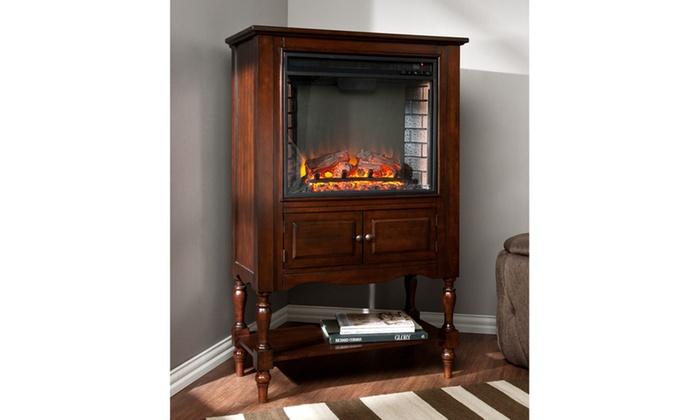 Providence Fireplace Tower Mahogany Groupon