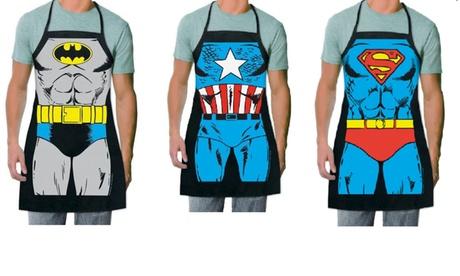 Funny Comic Costume Superhero Kitchen Apron -Batman / Captain America / Superman a5c00d08-90c7-47c1-bd35-5f89bf3a25f2