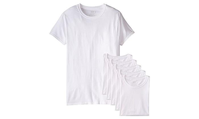 53d58c1abf1 6 Pack Kirkland Signature Men s Crew Neck T-Shirts 100% Cotton ...