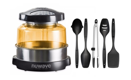 Nuwave Elite Oven w/ Extender Ring and 5 Piece Nylon Cooking Utensil d53f054d-8de1-4d34-86c3-a4b936ec5c85