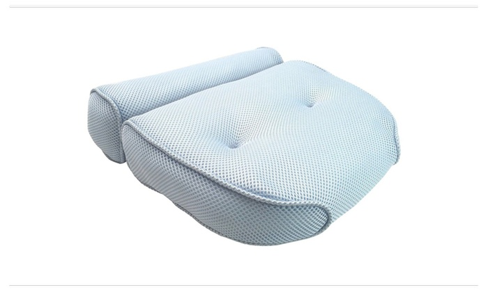 ... Premium Bath Spa Pillow Cushion Neck Back Support Foam Comfort Bathtub