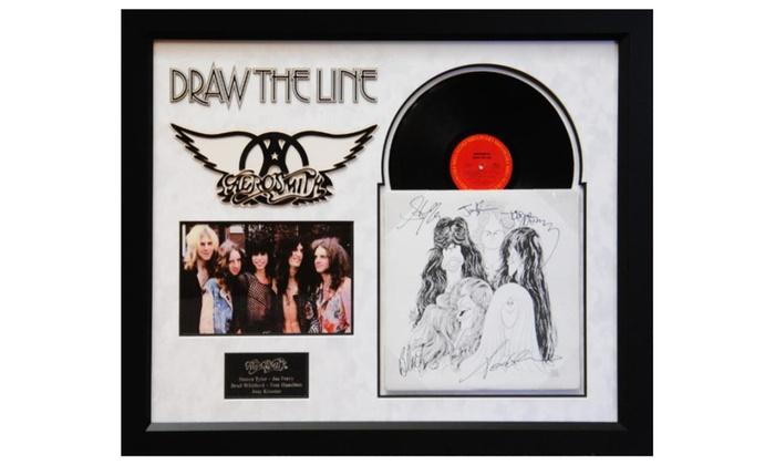 Aerosmith Draw The Line Signed Album Groupon
