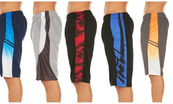 (5-Pack) Men's Active Athletic Assorted Performance Shorts