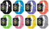 Band For Apple Watch Soft Silicone Replacement Wristband 38mm 42mm