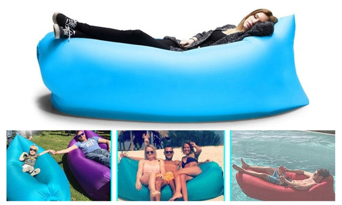 Outdoor Inflatable Couch Sleeping Compression Air Bag with Pockets