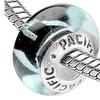 Sterling Silver 'Randomness' Murano-style Glass Bead