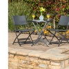 Cantinela Outdoor Folding Table with 2 Chairs Set (3-Piece)