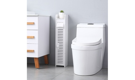 Bathroom Storage Corner Floor with Cabinet,Paper Towel Storage Narrow Cabinet Was: $29.99 Now: $15.69.