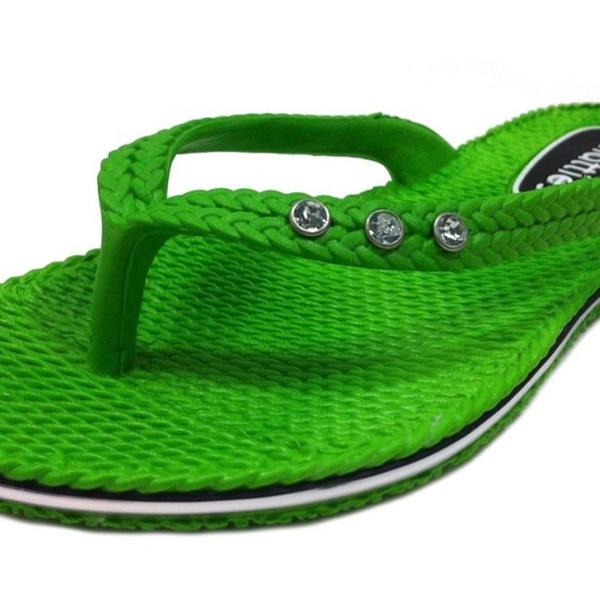 d7dede25d Chatties Women s Mini Wedge Flip Flop with Rhinestones