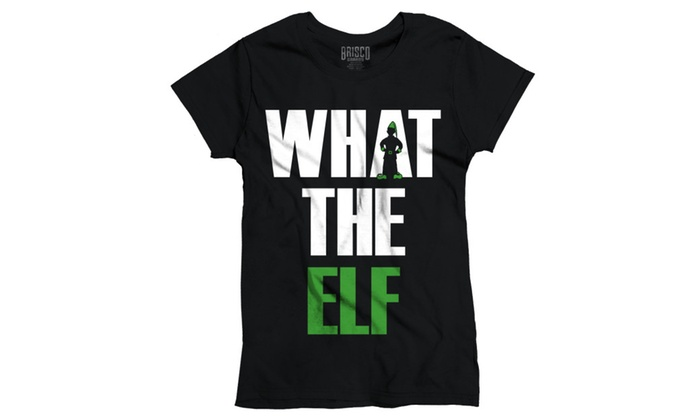 5d2714975 Funny Christmas T Shirt What The Elf Pun Ugly Christmas Sweater Womens Tee