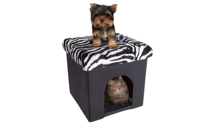 Astonishing Up To 40 Off On Ottoman Pet Bed By Petmaker Groupon Goods Inzonedesignstudio Interior Chair Design Inzonedesignstudiocom