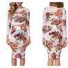Sexy Transparent Digital Print Dress Set