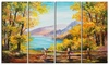 Mountain Lake in the Fall - Landscape Metal Wall Art