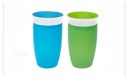 Munchkin Miracle 360 Sippy Cup, Green/Blue, 10 Ounce, 2 Count 2635f0e7-de21-48d0-abff-4738f8c80469