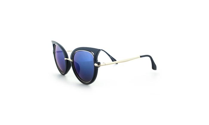 MLC Eyewear Designer High Fashion Winged Tip Sunglasses UV400