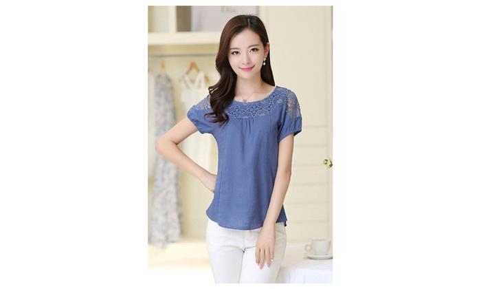 Women Wear Lace Summer Lace Decorated Blouse - KMWSB819-KMWSB820-821