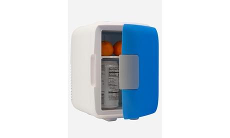 Portable Mini Fridge, AC/DC Electric Cooler & Warmer, 4 Liter 6-can capacity photo