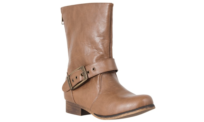 Riverberry Women's 'Marla' Mid-calf Fashion Boots, Taupe