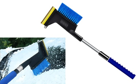 3in1 Extendable Car Snow Brush Ice Scraper for Car Windshield Snow Removal