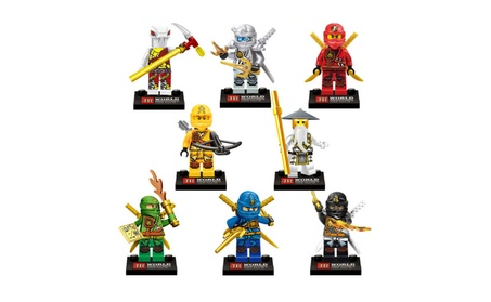 8 PCS Lego Compatible Ninja Ninjago Skylor Minifigures Building Set 88f1d70d-264b-4700-ae04-a763435eadd2