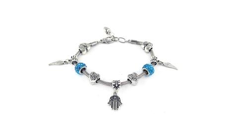 Hamsa And Dream Catcher Love Charm Crystal Bracelets