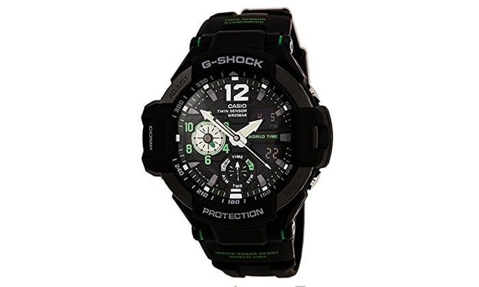 df8e6c5ff Casio G-Shock Men's GA-1100 Gravitymaster Watch - Black/Silver   Groupon