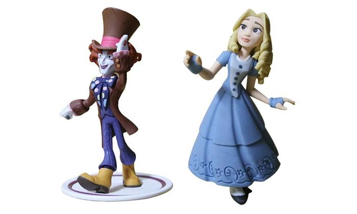 Lewis Joyce: 2Pcs Alice In Wonderland Alice & Mad Hatter Clown Mini Figures Toy