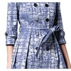 Women's Crew Neck Slim Fit Casual Casual Printed Trench Coats