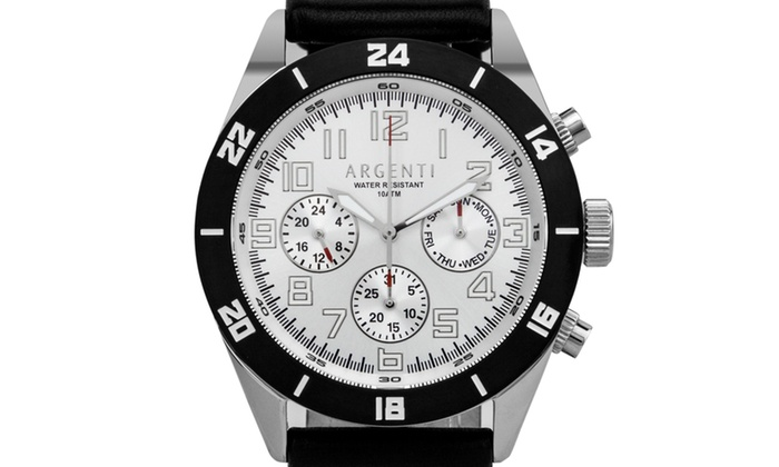 Argenti damar men 39 s master calendar multi function watch strong luminescence groupon for Luminescence watches