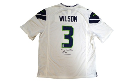 Autographed Russell Wilson Seattle Seahawks White Nike Jersey 8b4cccd8-5ba8-48db-a973-57343d89116d