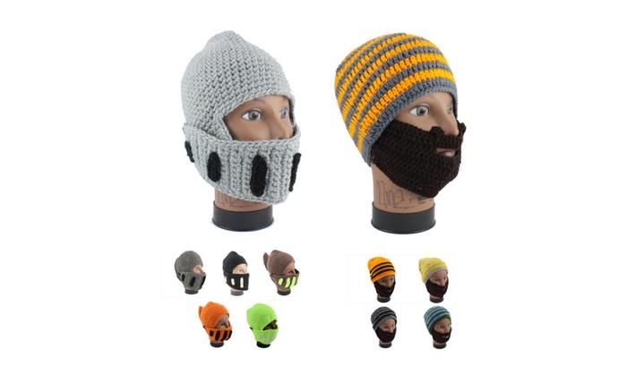 Winter Hat Beanie Face Mask Knight Beard