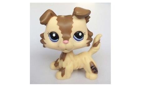 Littlest Pet Shop Brown Cream Collie Dog Puppy Blue Eyes Figure Puggy 1d318c32-285b-4b75-81b6-0aba27bcbd93