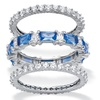 3.24 TCW CZ and Blue Crystal 3-Pc. Stack Ring Set