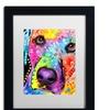 Dean Russo 'Closeup Labrador' Matted Black Framed Art