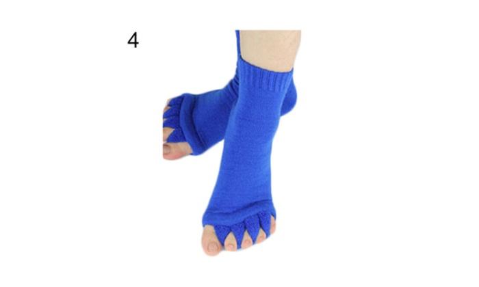 New Yoga GYM Massage Five Toe Separator Socks Foot Alignment Socks