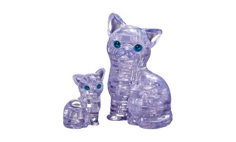 3D Crystal Puzzle - Cat with Kitten: 49 Pcs 6372060f-e486-4fe2-96de-c267f089e963
